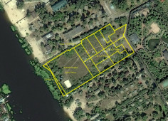 Land plot for sale on the bank of the Dnieper in Kiev city