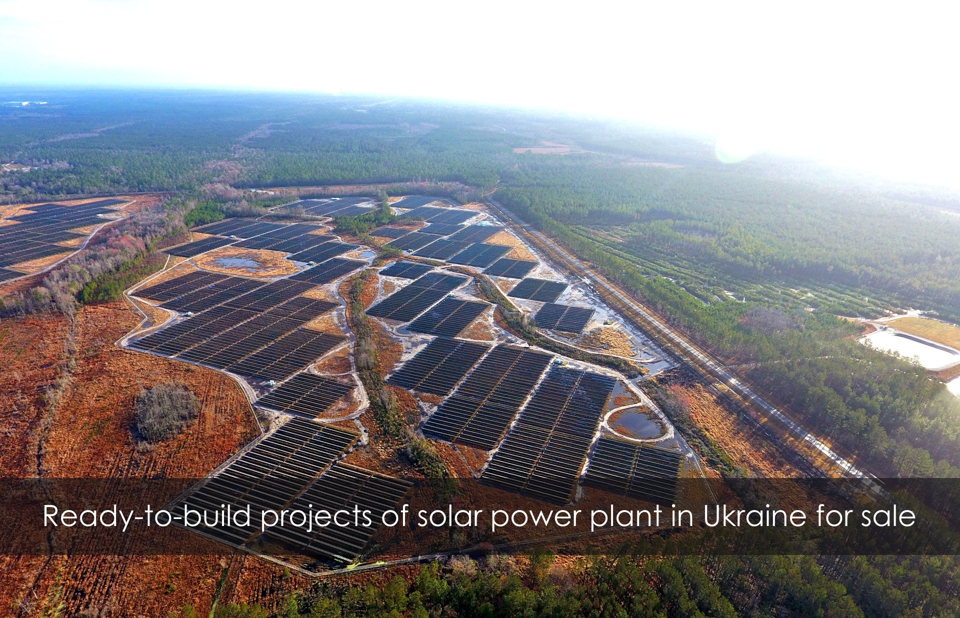 Ready to build land plots for solar plant in Ukraine
